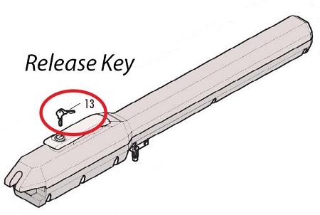 Liftmaster 41aswg 0119 Gate Operator Release Key
