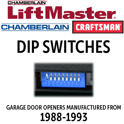 Liftmaster Dip Switch Remotes For 1988 1992 Openers