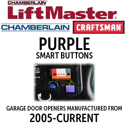 Liftmaster 315mhz Purple Learn Button Garage Door Remotes