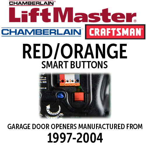 Liftmaster Security Red Orange Learn Button Remotes