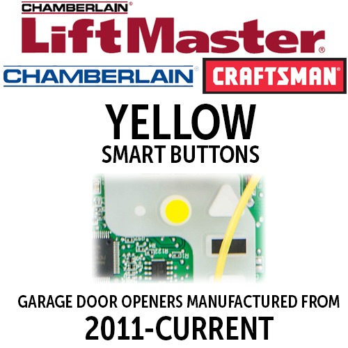 LiftMaster MyQ Yellow Learn Button Garage Door Remotes